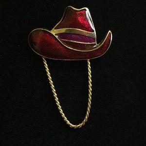 Texas Cowboy Brooch
